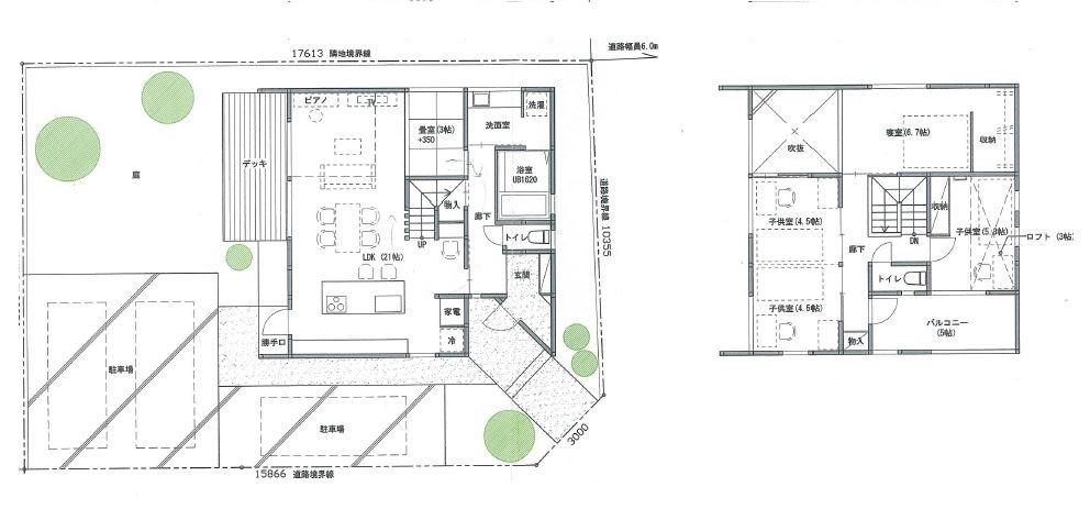 デザイナーズ住宅 平面図